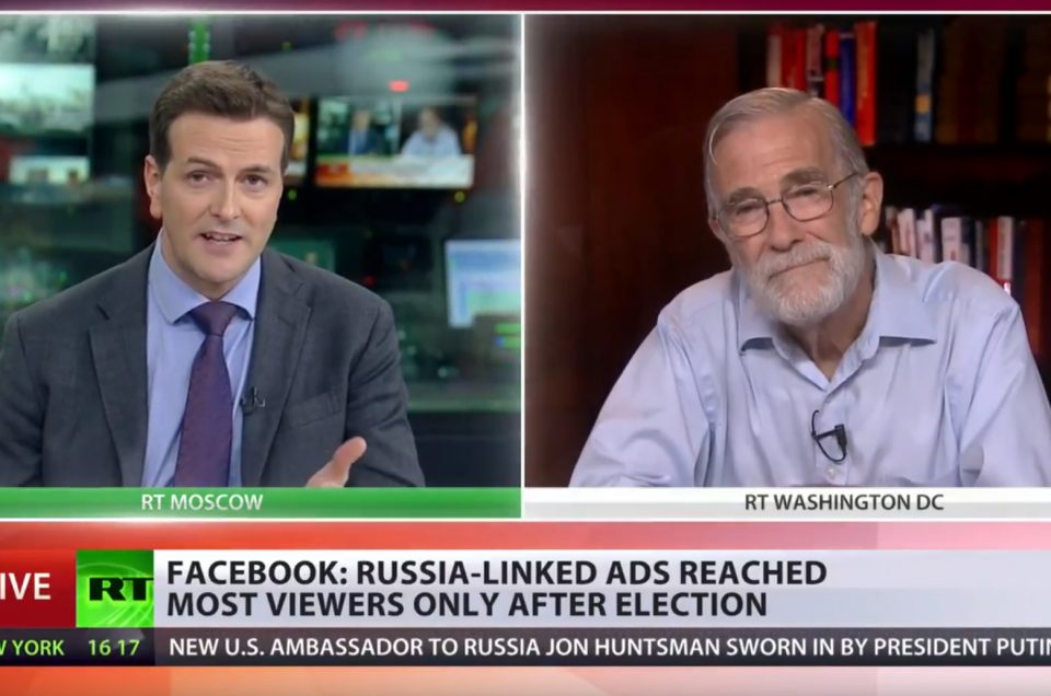 "Ray McGovern: The ""Russian attack on Facebook"" falls apart.  But will the mainstream media confess?"